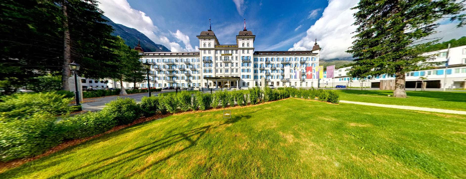 the Kempinski Grand Hotel des Bains, your gateway to the spectacular St Moritz. Situated in the Upper Engadine and easily accessible by road or rail, the hotel offers five-star luxury in a breathtaking mountain setting.