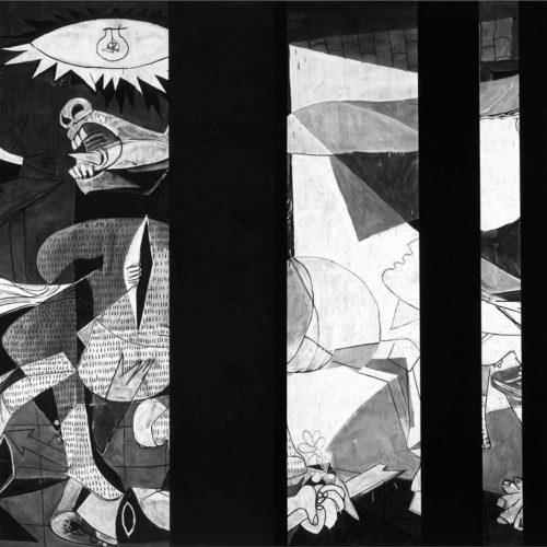 1_Robert-Longo_Guernica-Redacted_After-Picasso´s-Guernica-1937)_2016_archival-pigment-print_152x330-cm_copyright-Robert-Longo_courtesy-Cahiers-d´Art-Paris