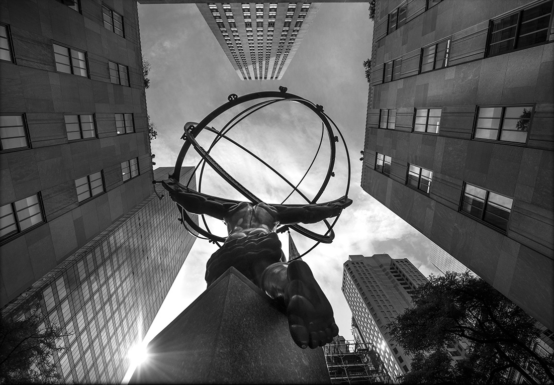 STEFANO ZARDINI NEW YORK CITY, 2294 Atlante and Rockfeller Center cm. 50 x 70 image, Dibond mount, framed Edition 1/30