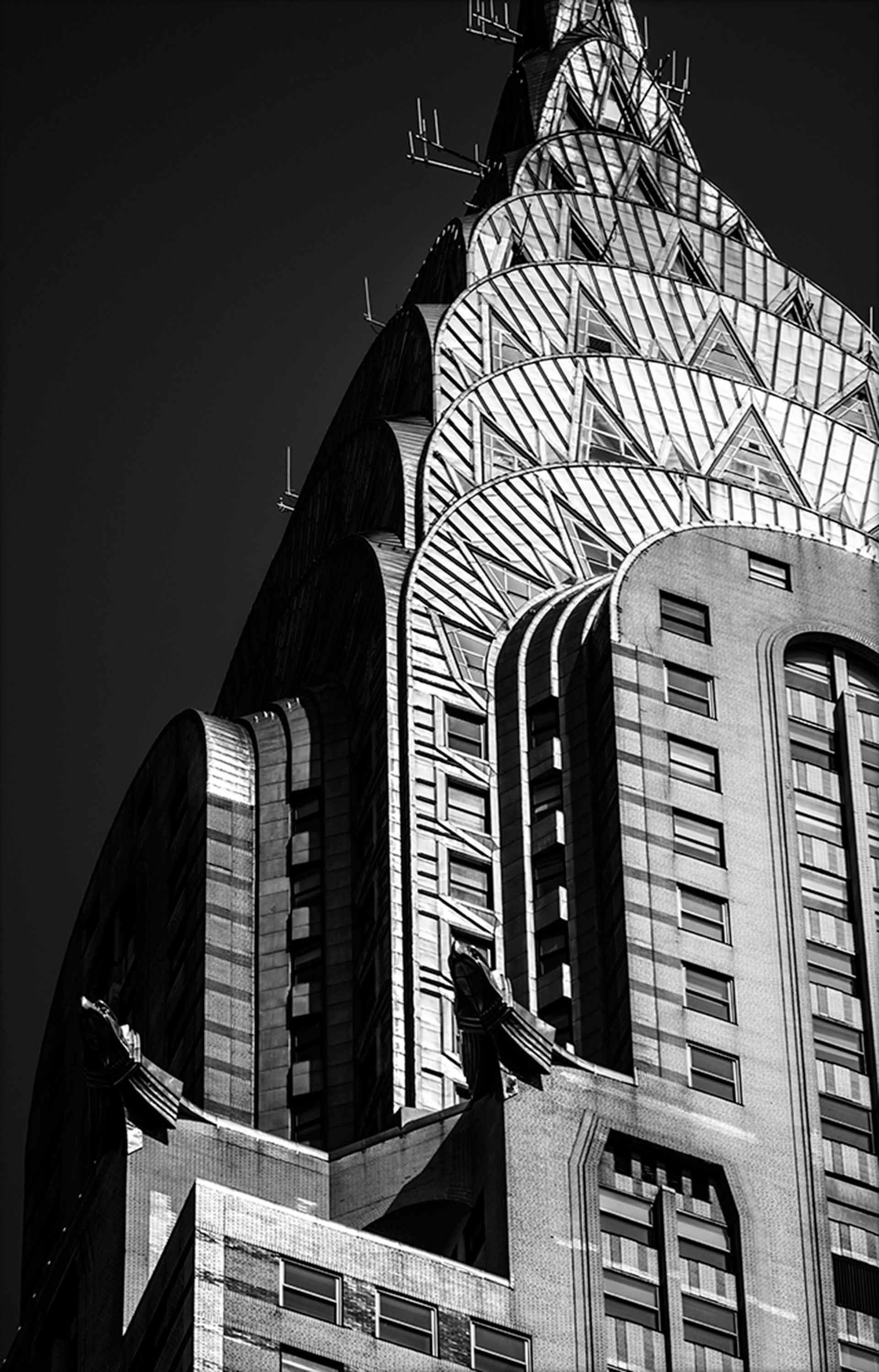 STEFANO ZARDINI NEW YORK CITY, Nr. 2036 The steel eagles of the Chrysler building cm. 66,7 x 100 image, Dibond mount, framed Edition 1/30