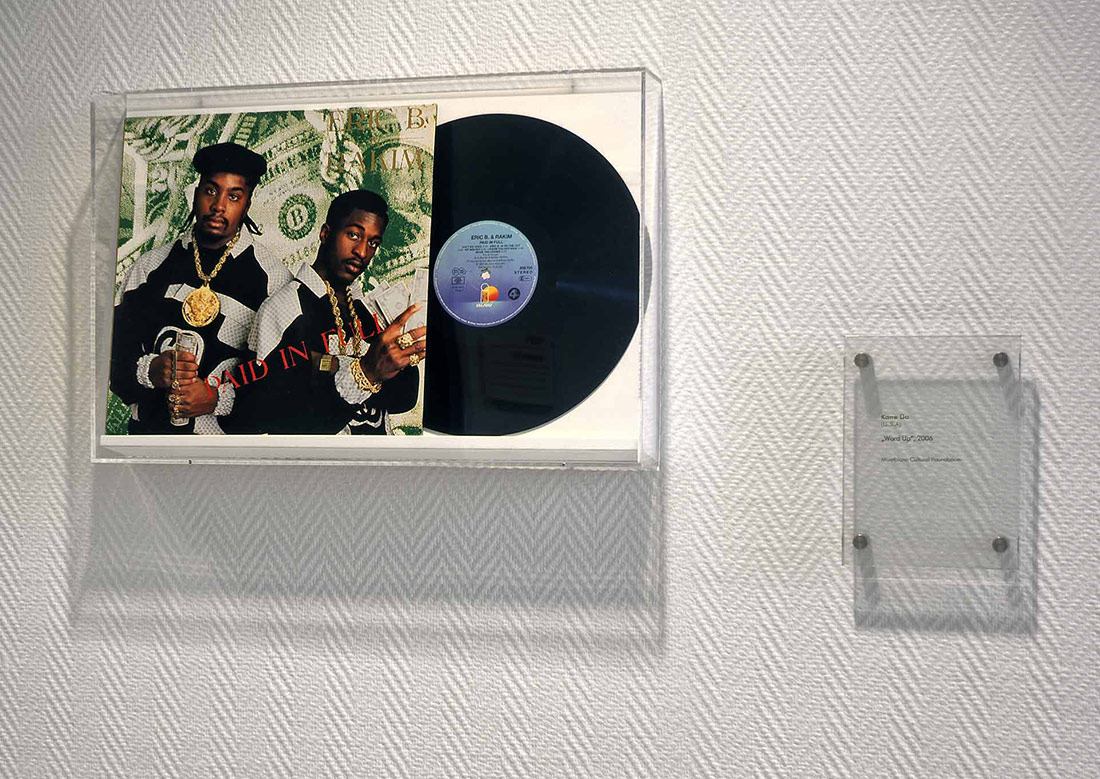 Word Up, 2006 - Artist: Kane Do - USA - 33 cm x 51,5 cm x 7 cm Paper, vinyl records (Eric B. & Rahim's Paid in Full, 1987 german edition) - MONTBLANC CUTTING EDGE ART COLLECTION