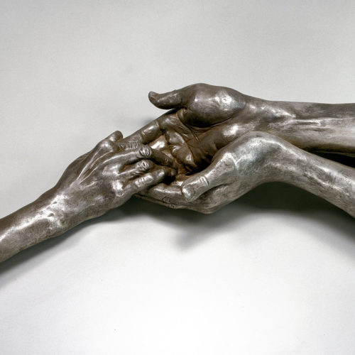 Louise-Bourgeois-The-Welcoming-Hands-,Bronze-with-silver-nitrate-patina-,-polished GALERIE KARSTEN GREVE AG