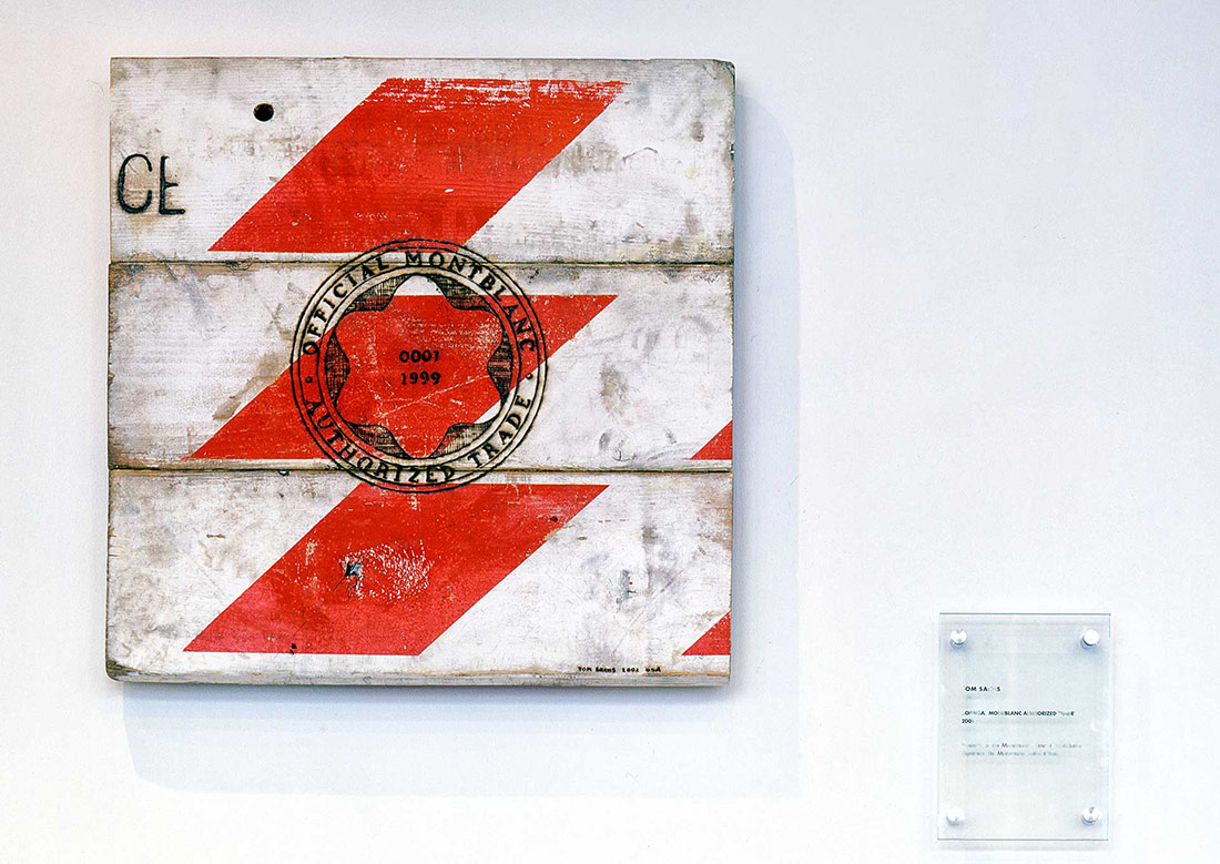 Official Montblanc Authorized Trade, 2002 - Artist: Tom Sachs - USA - 55 cm x 55 cm - Wooden panel - MONTBLANC CUTTING EDGE ART COLLECTION