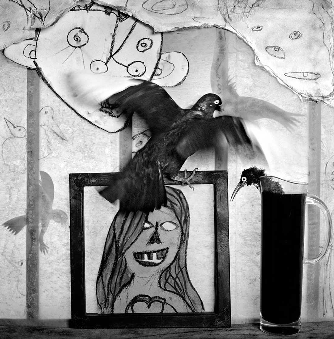 Roger ballen window shelf aip on paper 2012 courtesy galerie karsten greve st